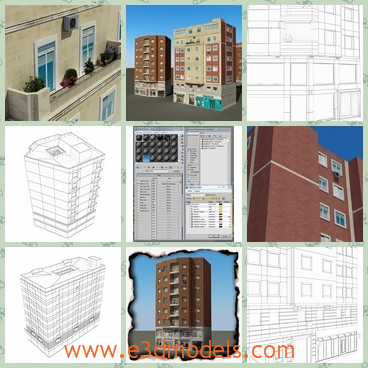 3d model the buildings in the commercial zone - This is a 3d model of the buildings in the commercial zone,which are tall and modern.The model is going to sell recently.