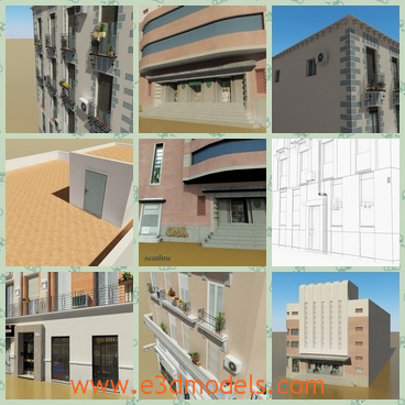 3d model the buildings ready to sell - This is a 3d model of the buildings ready to sell,which is commodious and the arrangements in the buildings are glorious.