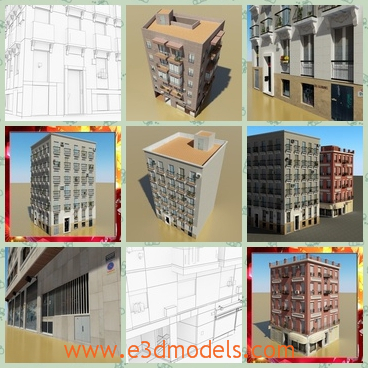 3d model the buildings with detailed arrangements - This is a 3d model of the buildings with detailed arrangements,which are luxury and expensive.