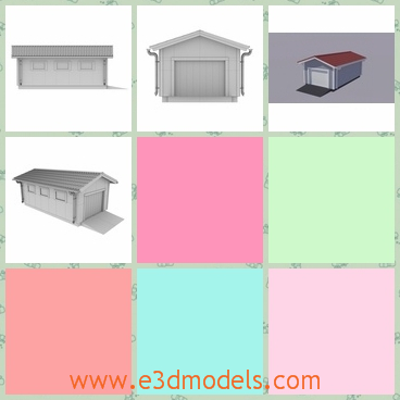 3d model the car garage - This is a 3d model of the car garage,which is long and spacious.The house is made with detailed shape.