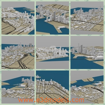3d model the cityscape of Miami - Share and Download 3D Models at
