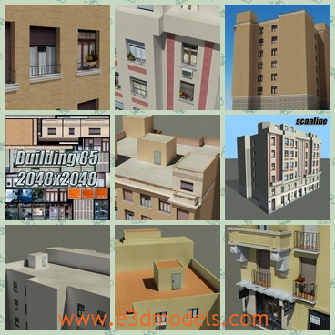 3d model the collection of the apartments - This is a 3d model of the collection of the apartments,which is high but solid.The stores in the buildings are decorated with so many ornaments.