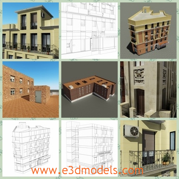 3d model the collection of the buildings - This is a 3d model of the collection of the buildings,which are luxury and expensive to buy one of the them.
