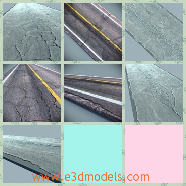 3d Model The Cracked Road Share And Download 3d Models At
