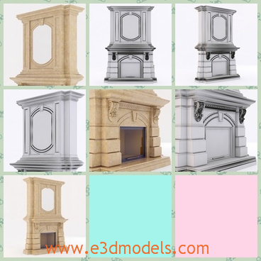 3d model the fireplace in the classical style - This is a 3d model of the fireplace,which is the classical style and the model is popular amongst the Europe.