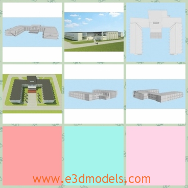 3d model the hospital in high quality - This is a 3d model of the hospital in high quality,which is large and modern.The model is built according to the new concept.