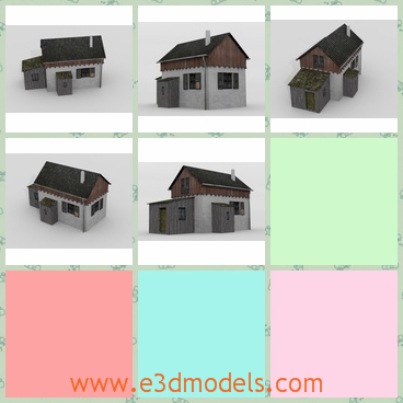 3d model the house in the village - This is a 3d model of the house in the village,which is ancient and small.The house was owned by the gatekeeper.