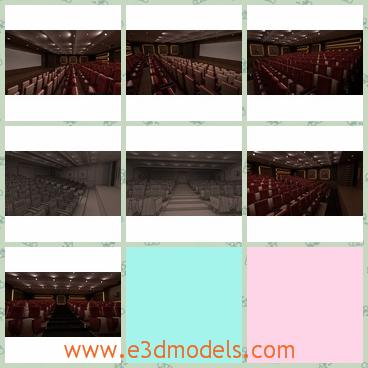 3d model the interior scene of the theatre - Share and