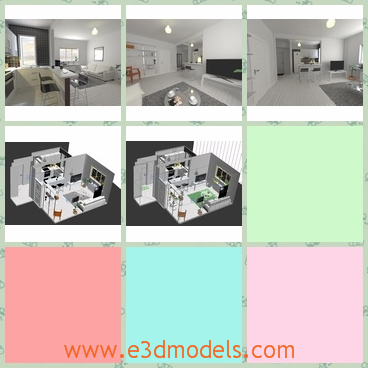 3d model the kitchen - This is a 3d model of the scene of kitchen,which is modern and charming.The kitchen is spacious and clean.