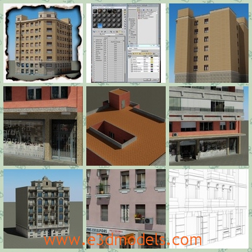 3d model the modern building in north areas - This is a 3d model of the modern buildings in Northern areas,which is tall and solid but small.