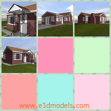 3d model the modern house in ranch - This is a 3d model of the modern house in ranch,which is actually the villa in the suburban areas.