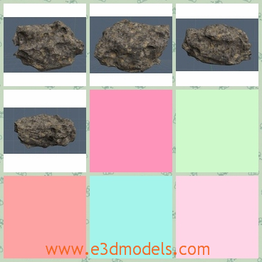 3d model the rock - This is a 3d model of the rock,which is the stone.The rock is hard and it can be curved to be other shapes.