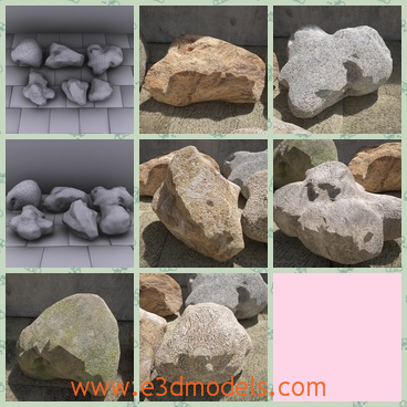 3d model the rock in different shapes - This is a 3d model of the rock in different shapes,which can be curved into various shapes too.The rook is shaped in the natural forces.