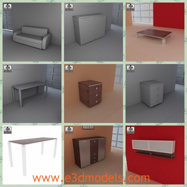 3d model the scene of the living room - This is a 3d model of the scene of the living room,which is presented by several furnitures and those furniture is made of wood.