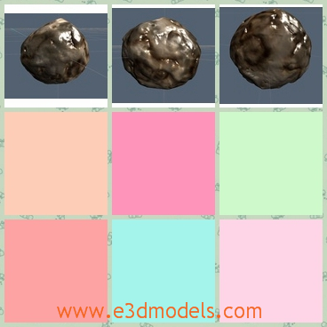 3d model the space rock - This is a 3d model of the space rock,which is actually the stone.The model is round and it is can be reshaped into other shapes.