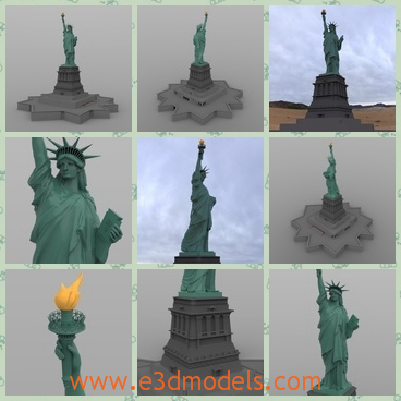 3d model the statue of Liberty in USA - THis is a 3d model of the statue of Liberty in USA,which is the symbol of the country and the statue is the symbol of freetom.
