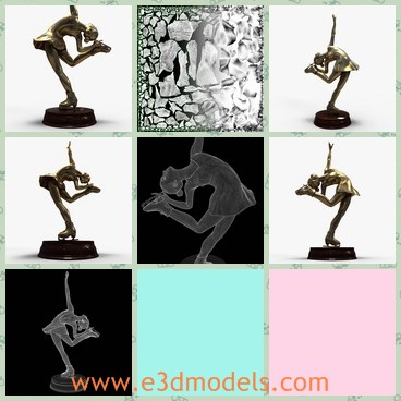 3d model the statue on a stand - Share and Download 3D Models at