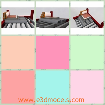 3d model the steel floor - This is a 3d model of the steel floor,which is a construction detail of a slab with steel supporting structure. It was developed in archicad.