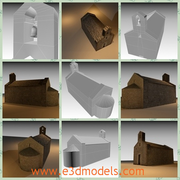 3d model the stone church - This is a 3d model of the church,which was made in stone in the 9th century and the shape was well protected at that time and the it was made in the medieval period.