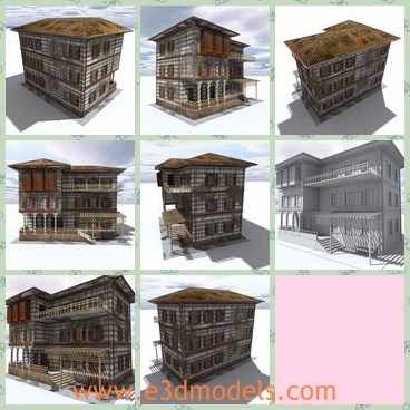 3d model the wooden house - This is a 3d model of the wooden house,which is anandoned and ruined.