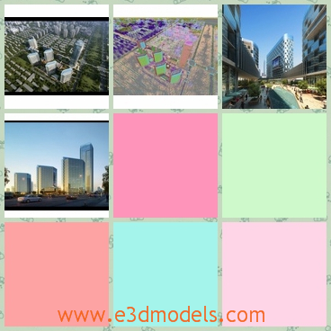 3d models of a busy city - Here are some 3d models which are about a busy city where we can see many tall buildings and long streets.