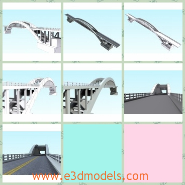 3d models of Rio das Antas bridge - These 3d models are about the Rio Das Antas Bridge located at the south of Brazil, in the state of Rio Grande do Sul. It is narrow and long and made of steel.
