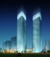 3d model of two skyscrapers