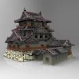 3d model the Asian castle