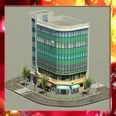 3d model the building with glass
