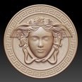 3d model the coin with a sculpture on it