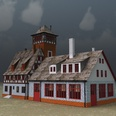 3d model the fire station