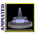 3d model the fountain and the water