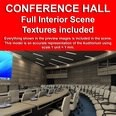 3d model the hall room