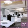 3d model the internal scene of the office