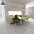 3d model the scene of a office