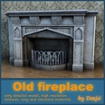 3d model the the fireplace and the woods