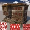 3d model the three-layer house