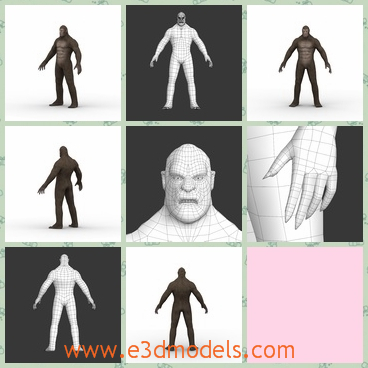 3d model the bigfoot monster - This is a 3d model of the bigfoot monster,who is standin on the ground and his mouth is opening right now.
