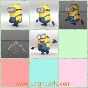 3d model the cute cartoon character - This is a 3d model of the cute cartoon character,which is cute and lovely.The model is coming from the famous movie.