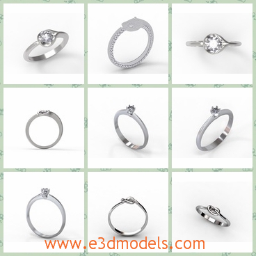 3d model the different rings - This is a 3d model of the different shapes of the rings,which are shining and charming.The ring is presented in the wedding.