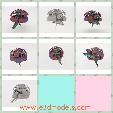 3d model the fantastic robot - This is a 3d model of the fantastic robot,which is round and made of metal materials.