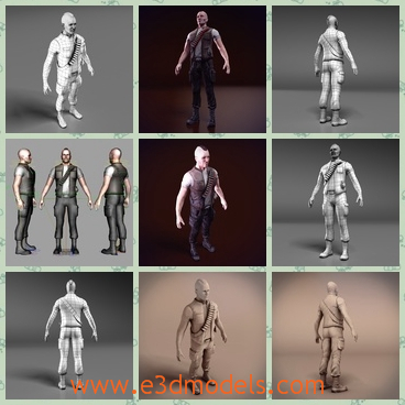 3d Model The Fighter With Special Hairstyle Share And Download 3d