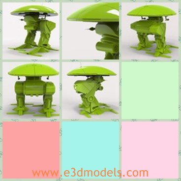 3d model the green robot - This is a 3d model of the green robot,which will show final scene renders with close-up shots of mesh, I model as if for manufacture, so you are guaranteed accurate component assembly with clean mesh and product lines.
