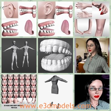 3d model the human teeth - This is a 3d model of the human teeth,which is made according to a business women.The woman is sexy and has red mouth.