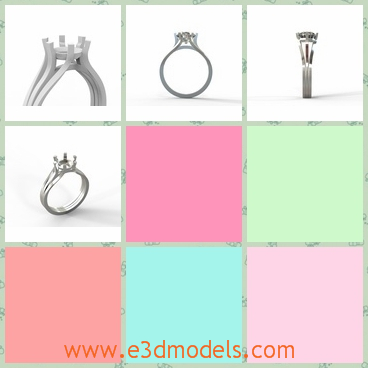 3d model the ring with diamond - This is a 3d model of the ring with diamond,which is shining and beautiful.The model is used in the engagement ceremony.