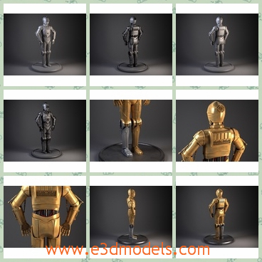 3d model the robot - This is a 3d model of the robot,which is made according to the character from the Star Wars.