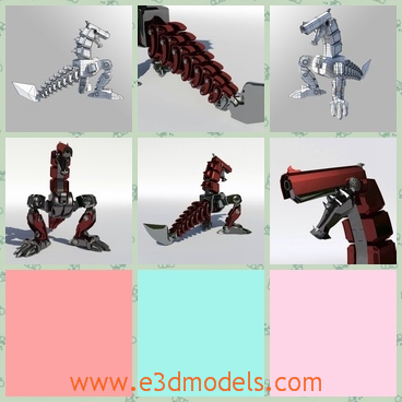 3d model the robotic dragon - This is a 3d model of the robotic dragon,which is made by a common mech in a factory.The model is made like the dinosaur.