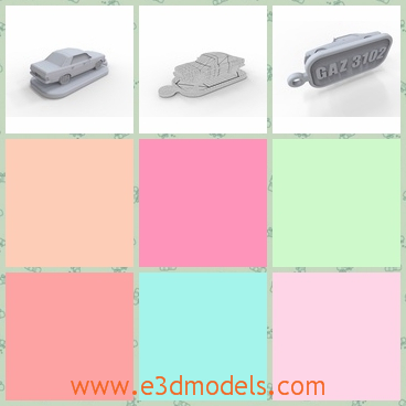 3d model trinket pendant - This is a 3d model about the Trinket pendant GAZ,which is small but elegant and is easy to carry.And the sign on the bottom is a kind of advertising for the product.