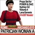 3d model the ancient woman