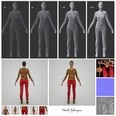 3d model the red pant